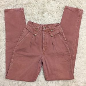 Vintage Silverlake Orange High Waist Mom Jeans